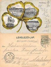 Slovensko Slovacchia - Pozsony Bratislava 4 PANORAMA + štvorlístok (A-L 035)