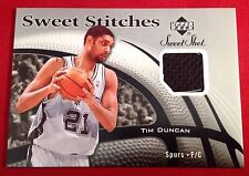Tim Duncan 2006-07 Upper Deck Sweet Stitches Sweet Shot Game Used Trading Card