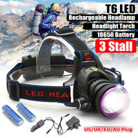 LED Rechargeable Headlight Torch T6 Headlamp Head Light Lamp Outdoors Camping