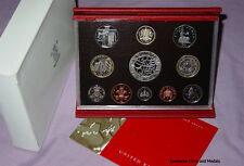 2003 ROYAL MINT DELUXE PROOF SET COINS with Coronation £5 & Suffragette 50p