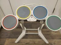 Nintendo Wii Harmonix Rock Band Drum Set Drums Only Wired but no Sticks or Pedal