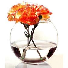 Round Clear Glass Flower Vase Home Wedding Modern Floral Display Centrepiece