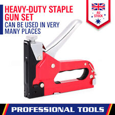 2in1 Heavy Duty Staple Gun Set 2 sizes Inc 1500Pc Nails Fastener Tacker Tool Kit