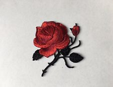 Sew on & iron on  patches(Rose-red)