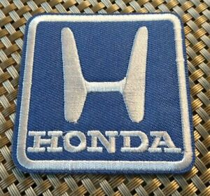Honda symbol car blue/white Embroidered Patch Iron-On Sew-On US shipping