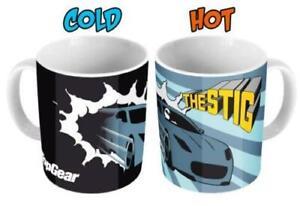 Stig Heat Change Mug Black Top Gear Car Hot Reveal Coffee Tea Gift Box CLEARANCE
