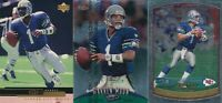 Warren Moon Lot of 3 different Seattle Seahawks football Cards