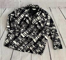COLDWATER CREEK Black And White BLAZER JACKET SIZE 24 W