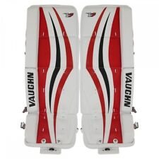 "New Vaughn Xr Jr goalie leg pads Black/Red junior 22""+2 ice hockey Velocity V7"