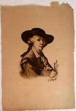 Edouard Gautier-Dagoty, Gouache on Paper, Portrait, 34 x 24cm 18th 19th Century