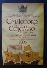 2006   San Marino   2 Euro  Cristoforo Colombo