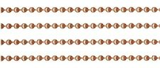 18 feet GENUINE SOLID COPPER BALL CHAIN ~ #6 / 3.2mm Plus 10 Connectors clasps