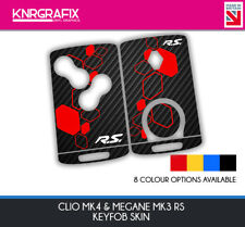 KNR0002 RS MEGANE MK3 - CLIO MK4 KEYFOB SKIN - KEY STICKER - 8 COLOUR CHOICES