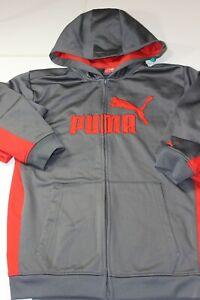 Boy's Youth PUMA Hoodie shirt Light weight Black Large 19 x 24 L