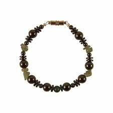 Zen Canyon Magnet Health Therapy Magnetic Hematite Green Aventurine Bracelet