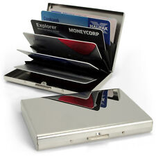 Stainless Steel Pocket Business ID Credit Debit Card RFID Wallet Case Holder Box