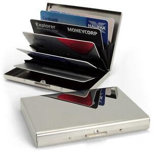 Stainless Steel Pocket Business ID Credit Debit Card RFID Wallet Case Holder Box