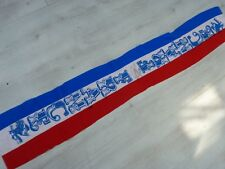 Ancienne Echarpe old scarf FRANCE FFF signé signed ROBERT PIRES ultras foot