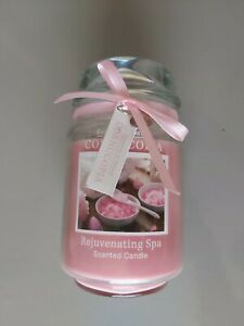 Rejuvenating Spa Cornucopia Scented Candle Jar.  Large 450g Jar. Pink