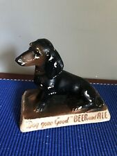"Vintage Frankenmuth ""Dog gone Good"" Beer & Ale Chalkware Dog Advertising Statue"