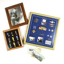 USAAF USAF PILOT GROUPING MEDALS WINGS PHOTOS DISTINGUISHED FLYING CROSS DFC