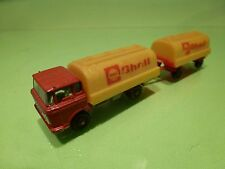 MAJORETTE DAF 2600 FUEL TANKER + TRAILER - SHELL RED YELLOW 1:100 - GOOD COND