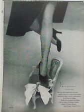 1948 womens McCallum Siren off black textured Hosiery stockings leg photo ad