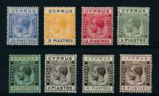 [52790] Cyprus 1924-28 good lot MH Very Fine stamps