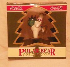"Coca Cola Polar Bear Collection ""North Pole Delivery"" Christmas Ornament 1994"