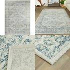 Pascale Blue 5 Ft. X 7 Ft. Distressed Oriental Area Rug