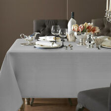 Tablecloth, Rectangle Table Cloth Cotton Linen Wrinkle Free Anti-Fading Embroide