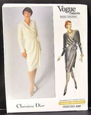 UNCUT Vogue Paris Original Pattern Christian Dior Misses Wrap Dress,Overskirt