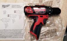 "Milwaukee 2407-20 12V 12 Volt M12 Cordless 3/8"" Drill Driver | Brand New"