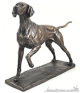 David Geenty Pointer Cold Cast Bronze ornament figurine sculpture collectable