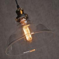 MODERN Vintage Industrial RETRO GLASS CEILING LAMPSHADE PENDANT LIGHT Chandelier