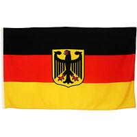 Fahne Deutschland mit Adler quer 90 x 150 deutsche Hiss Flagge Nationalflagge