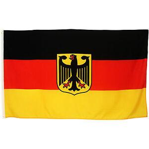 Fahne Deutschland mit Adler Wappen Größe 90x150 cm Bundesflagge BRD Hissflagge