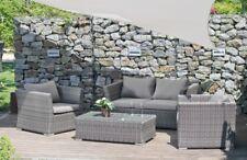 Garten Lounge Sitzgruppe Relax Sofa + Tisch + Sessel Terrasse Möbel Rattan Optik