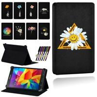 Daisy Leather Smart Stand Case cover For Samsung Galaxy Tab 2 / 3 Tablet +Stylus