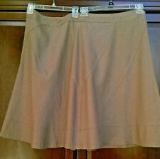 MERONA LINEN / RAYON FLARE KNEE LENGTH SKIRT PLUS SIZE 24w BROWN MILK CHOCOLATE