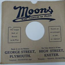 "10"" 78rpm gramophone record sleeve MOONS Plymouth + Exeter"