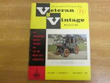 November 1962, VETERAN & VINTAGE, The Ricardo, Jack Field, Vincenzo Lancia.
