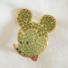 Shape Clubhouse Crystal Brooch Pin Br1022A New Green Cartoon Disney Mickey Mouse