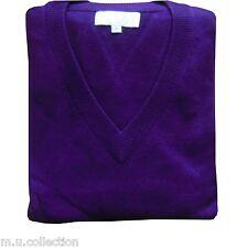 Nepalese 100% Cashmere Pashmina Mens V-neck Sweater Jumper Top Cardigan