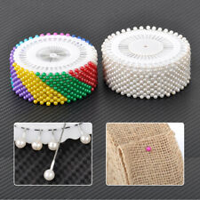 480 Round Head Dressmaking Pearl Safety Needle Pin Tailor Craft Sewing Pins 35mm