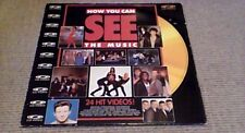 "NOW YOU CAN SEE THE MUSIC 1st UK POLYGRAM MUSIC 12"" CD PAL VIDEO DISC 1988 MTV"