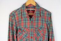 Superdry Co Men Casual Shirt Red Check Cotton size XL