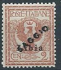 1912-15 LIBIA AQUILA 2 CENT SAGGIO MNH ** - RR13856