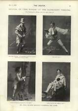 1900 Cyril Maude Divertente Ruoli Beatrice FERRAR Sydney Valentine