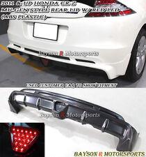 Mu-gen Style Rear Lip (ABS) + LED Brake Lights Fits 11-16 CR-Z 2dr